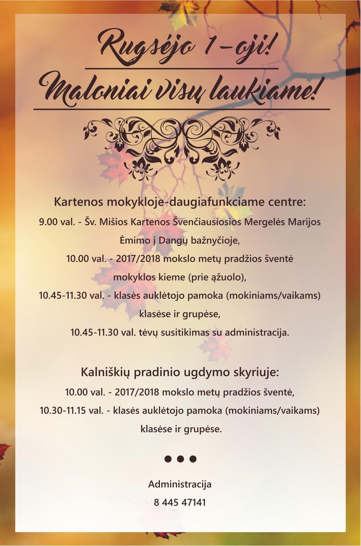 Kartenos Piliakalnis Svente 2019.Kartenos Mokykla Daugiafunkcis Centras Naujienos 2017 2018